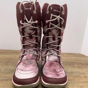 Merrell Pechora Peak Boots Burgundy size 7